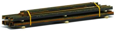 Ladegüter Bauer U-Profile, rostig (130 x 30 x 20 mm)