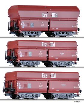 Tillig Güterwagenset Erzzug 3 DB Selbstentladewagen OOtz 41/43 DB, Ep. III 01766
