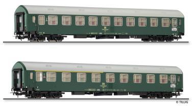 Tillig Reisezugwagenset Interzonenzug 1 DR, 2 Reisezugwagen Typ Y/B 70, Ep. IV 0