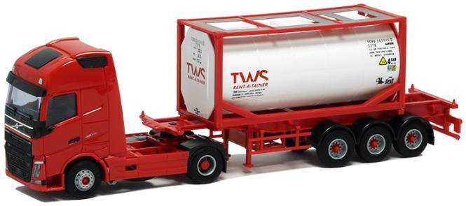 AWM LKW Volvo FH4 XL Glob./Aerop. Tank-Cont-SZ TWS weiß