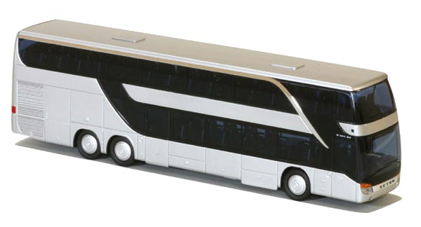 AWM Reisebus Setra S 431 DT EURO 6 neutral weiß 11261