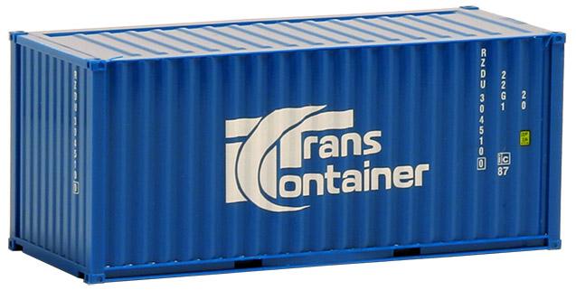 AWM SZ 20 ft Container Trans Container mittelblau