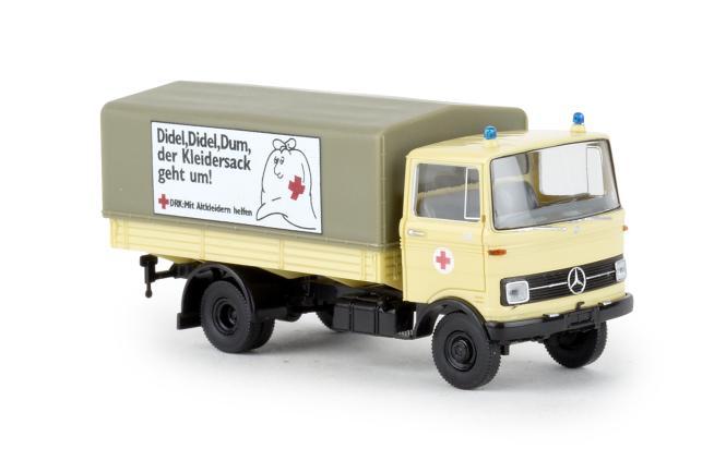 Brekina LKW Mercedes LP 608 PP DRK Altkleidersammlung 48574
