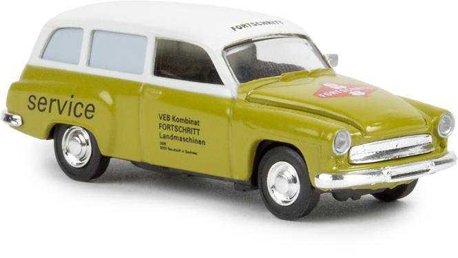 Brekina PKW Wartburg 311 Kombi Fortschritt (grün/weiß)
