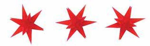 Busch 3 beleuchtete Weihnachtssterne rot