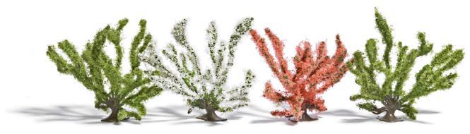 Busch 4 Frühlingsbüsche H0 6064