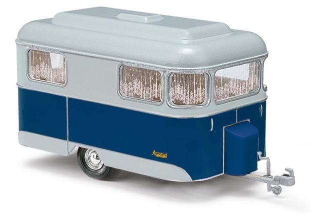 Busch Nagetusch Wohnwagen blau 51702