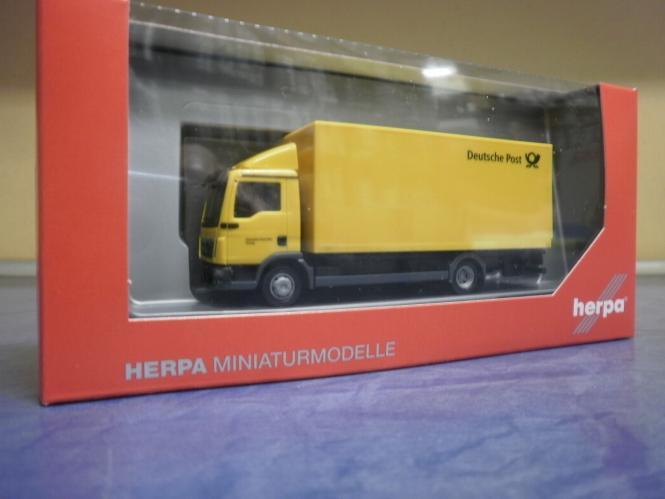 OVP herpa 308212 MAN TGL Koffer-LKW mit Ladebordwand Deutsche Post NEU