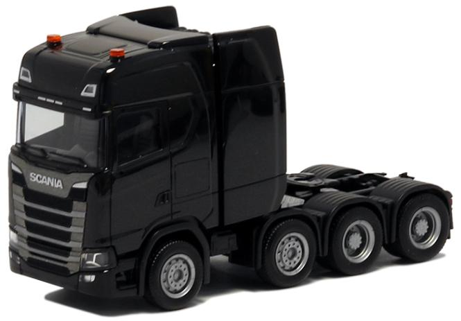 Herpa LKW Scania CS 20 HD Schwerlast-SZM schwarz