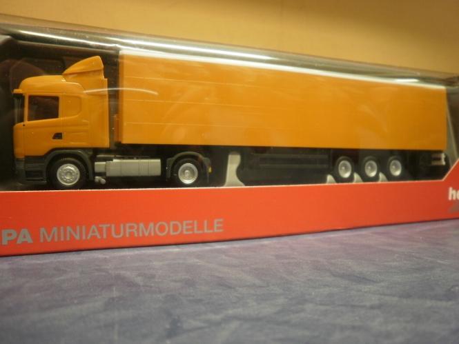 Herpa LKW Scania R Highl/Aerop. KSZ orangerot unbedruckt 307451