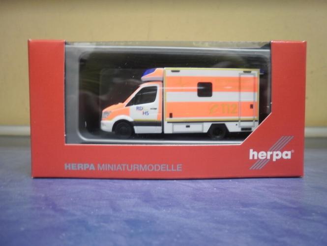 Rettungsdienst Kreis Heinsberg 1:8... herpa 094962 MB Sprinter `13 Fahrtec RTW