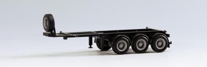 Herpa SZ 20' Trailer 3-achs Containerauflieger schwarz