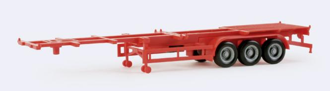 Herpa SZ 40' Cont-SZ 3-achs Containerauflieger rot