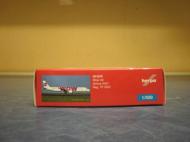 Herpa Wings 1:500 Airbus A321 WOW 531870