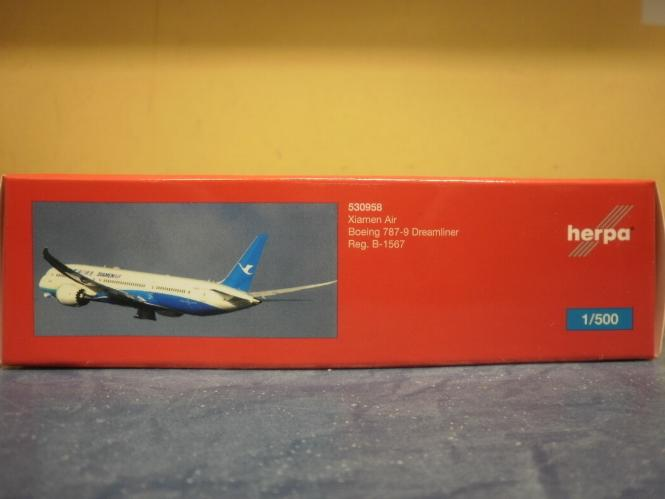 Herpa Wings 1:500 Boeing 787-9 Dreamliner Xiamen Air 530958