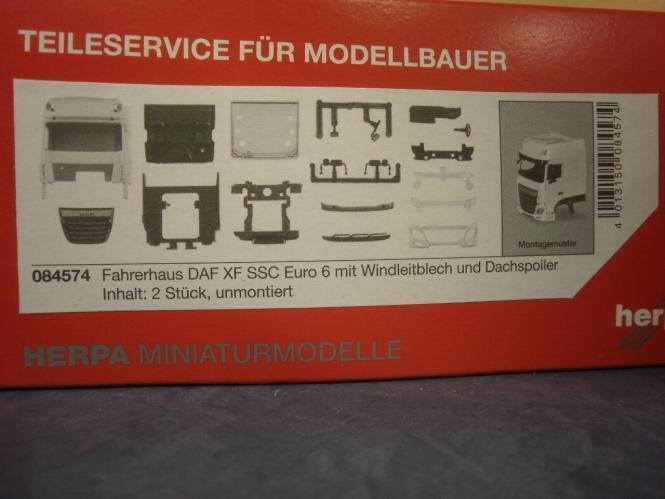 Herpa Z Fahrerhaus DAF XF SSC 106 mit Windleitblech und Dachspoiler 084574