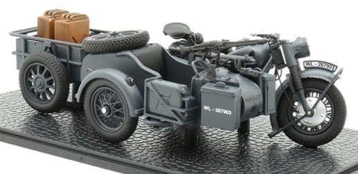 IXO 1:24 BMW R75 mit Panzerfaust 30wehrmachtsgrau