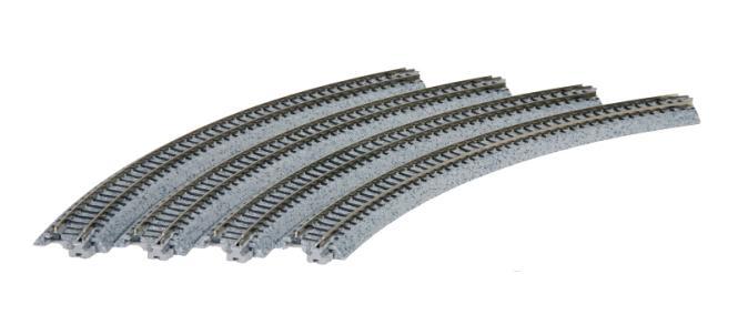 Kato Gleis gebogen R 282-45° 4 Stück im Blister