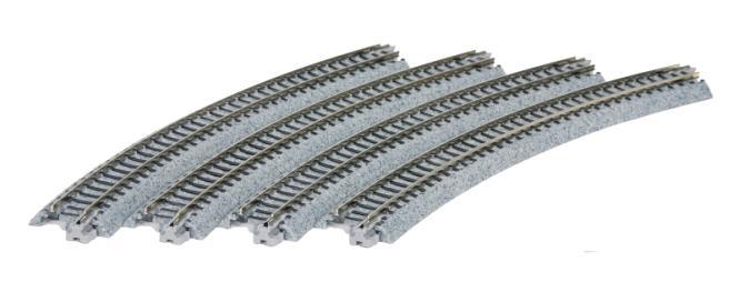 Kato Gleis gebogen R 348-30° 4 Stück im Blister