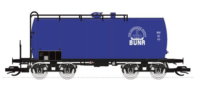 Kühn 2er Kesselwagen-Set Bauart Uerdingen blau,Buna DR Ep.IV 51516