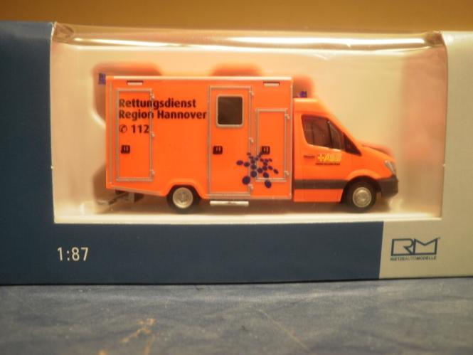 ASB 61737 1//87 Rietze WAS RTW Facelift Rettungsdienst Hannover