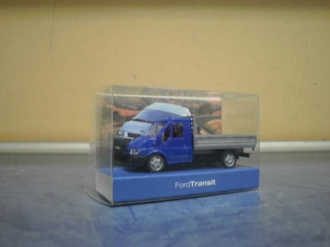 Rietze PKW Ford Transit Pritsche - blau