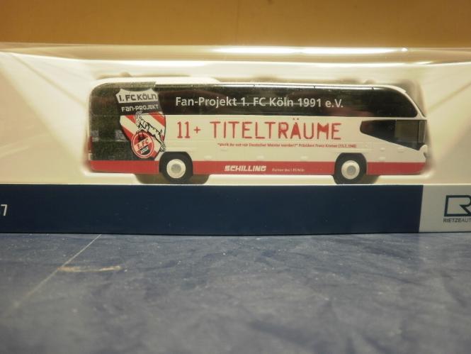 67138-1:87 Rietze Neoplan Cityliner Fanbus 1.FC Köln// Schilling Reisen