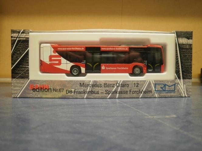 Rietze Stadtbus Citaro MB O 530 12 DB Frankenbus - Sparkasse 69489