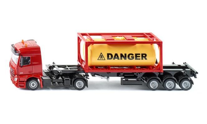 Siku Super 3556 LKW mit Baucontainer 1:50 115x255x75 NEU Laster Baufahrzeug
