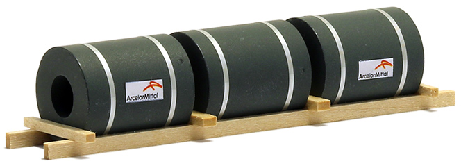 Ladegüter Bauer Coils auf Holzgestell (100 x 25 x 20 mm)