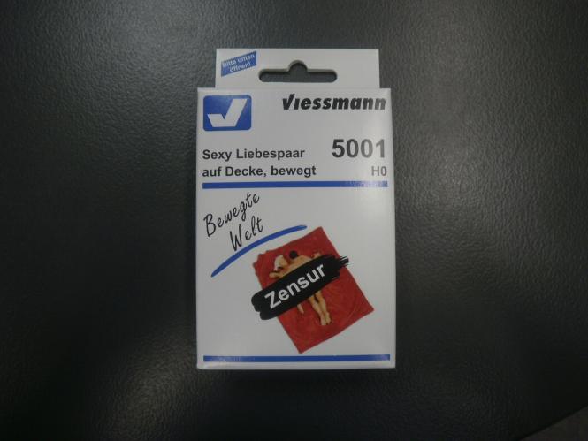 Viessmann HO Sexy Liebespaar auf Decke, bewegt