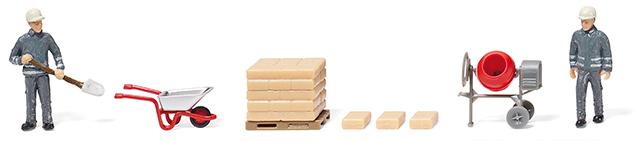 Wiking Zurüstteil Zubehörpackung Baustellen-Set