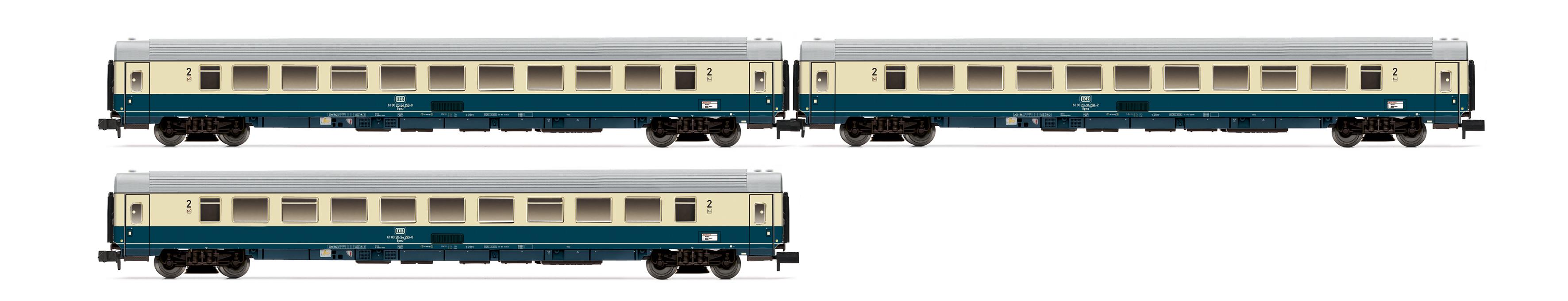 Arnold 3-tlg orie Set InterCity-Wagen 2.Klasse der DB