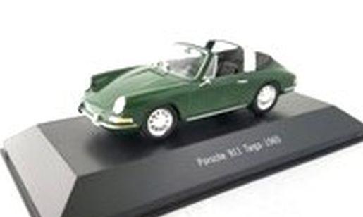 Porsche 911 Targa grün 1965 Modellauto Atlas 1:43