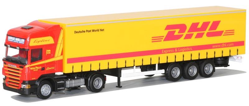 AWM LKW Scania 4 R Topl.//Aerop Ga-KSZ DHL