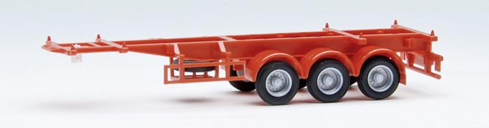Herpa SZ 40' Cont-SZ 3-achs Containerauflieger schwarz