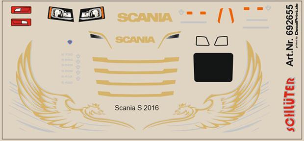 rot // gelb 11,5 x 6,0 cm Decals für LKW-Dekor für Scania R
