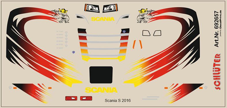 Decals für LKW-Dekor für Scania rot 5,5 x 6,8 cm