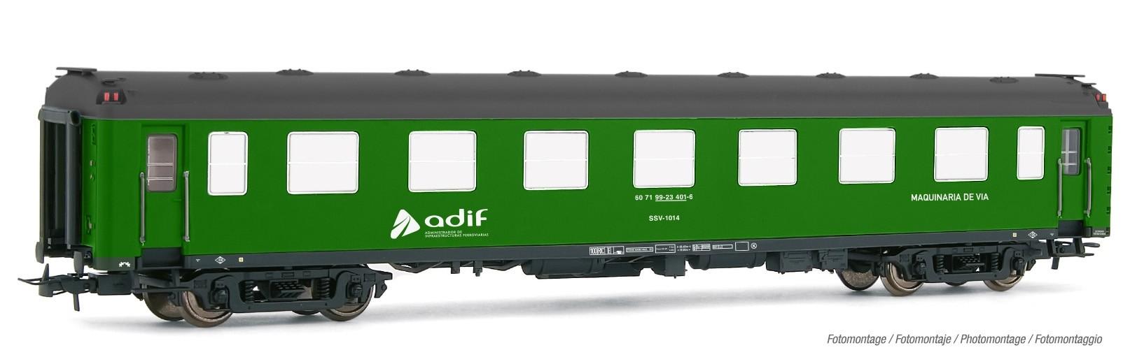 VI E5095 Electrotren 4-achs Ep Bahndienstwagen  ADIF Maquinaria de via