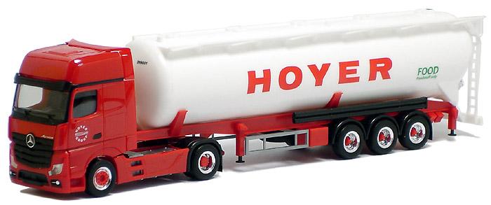 Herpa LKW MB Actros 11 Giga Kippsilo-SZ Hoyer 905282