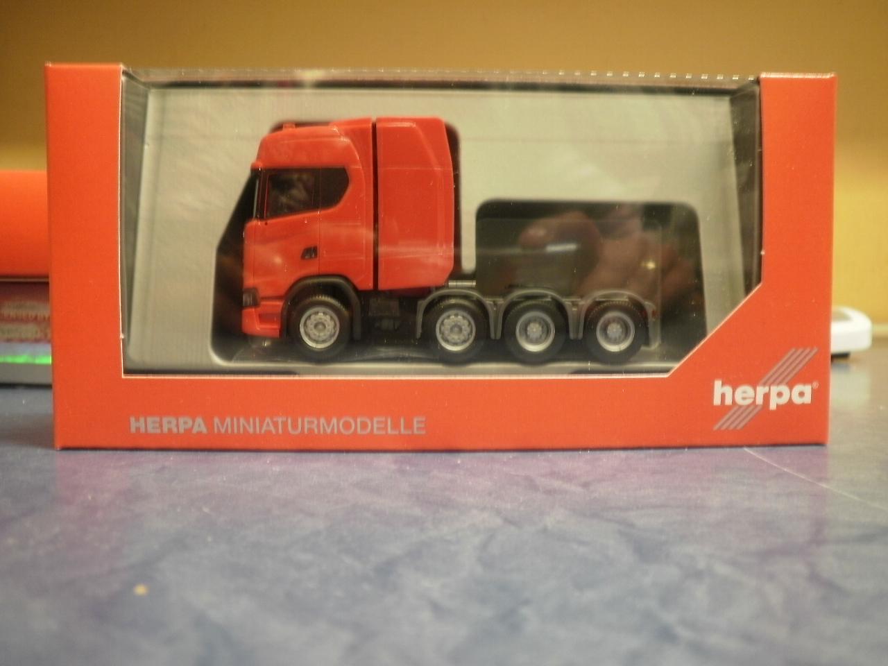 Herpa LKW Scania CS 20 HD SZM 2achs m.Lampenbügel Rammschutz ultramarinblau 3101