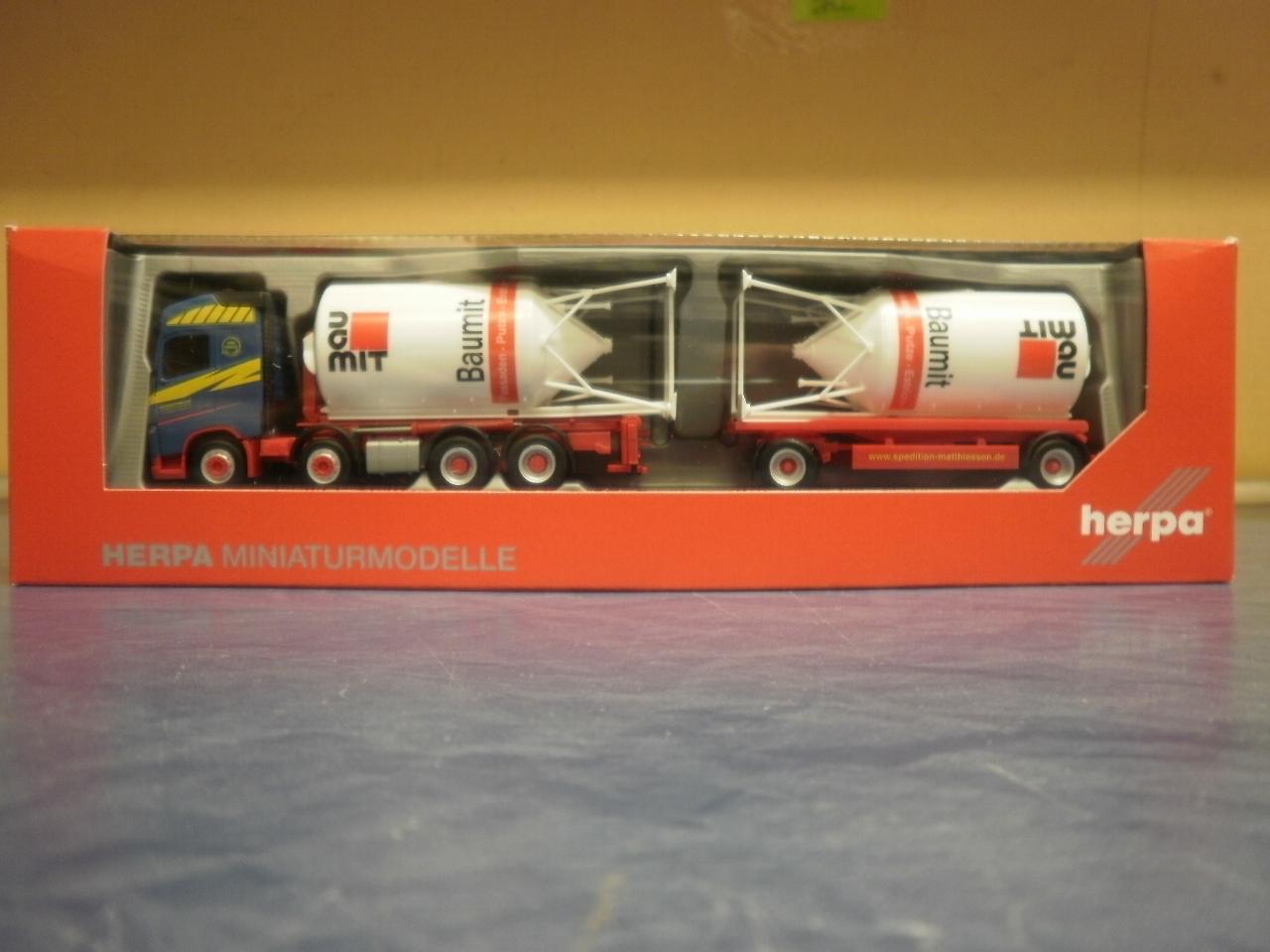 Herpa LKW Volvo FH4 Silosteller-Hz Matthiessen Logistik 310130