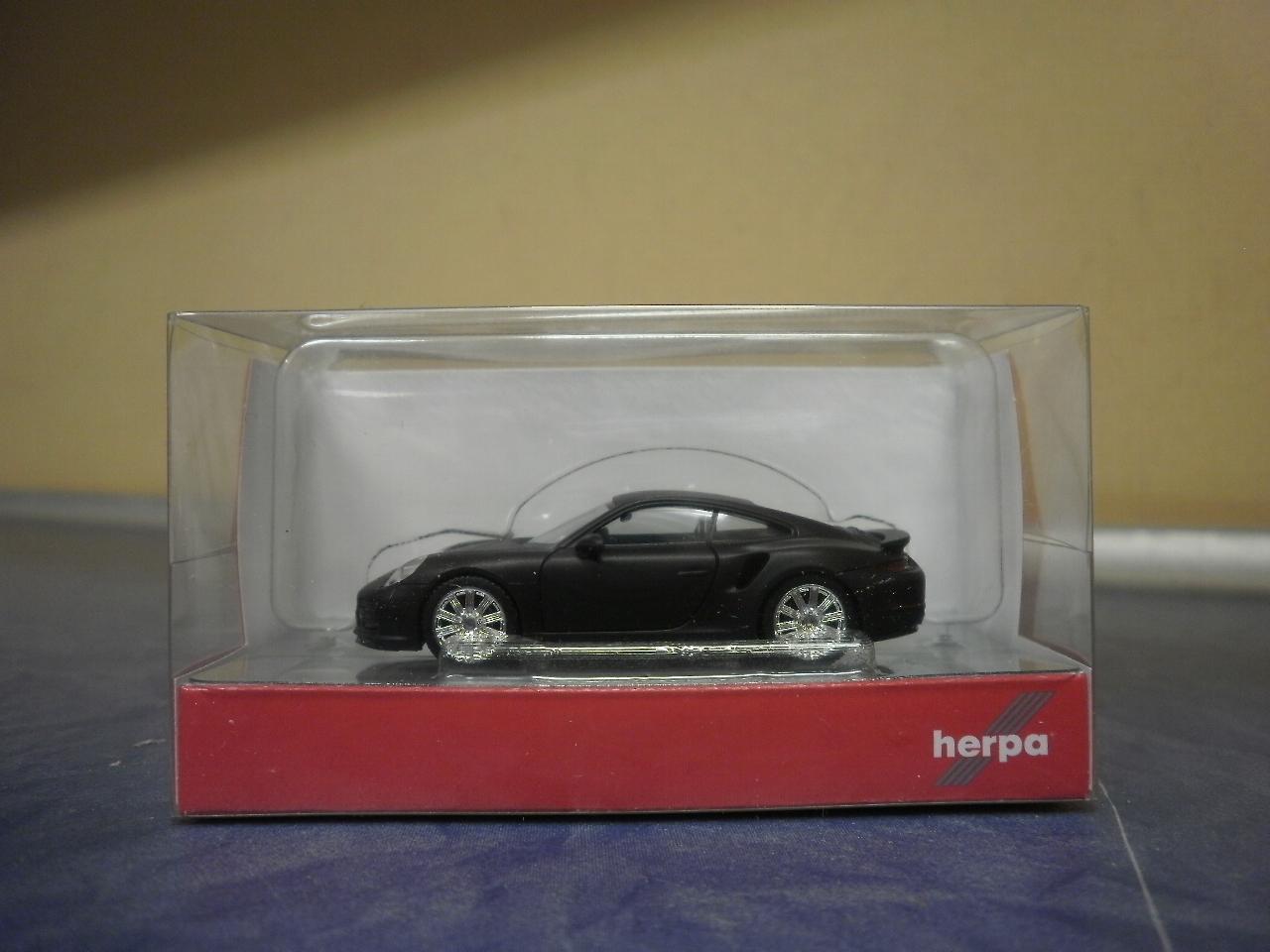 silber metallic 038614 Herpa PKW Porsche 911 Turbo
