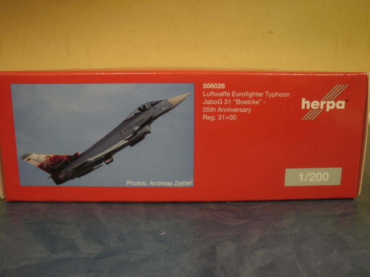 """Herpa Wings 1:200-556026 Luftwaffe Eurofighter Typhoon JaboG 31 /""""Boelcke/"""""""