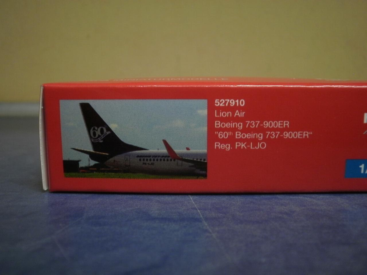 Herpa Wings 1:500 Boeing 737-900 Lion Air 60th Boeing 527910