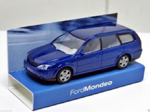 ds automodelle modellbauvertrieb rietze pkw ford mondeo turnier 2000 blau purchase online. Black Bedroom Furniture Sets. Home Design Ideas