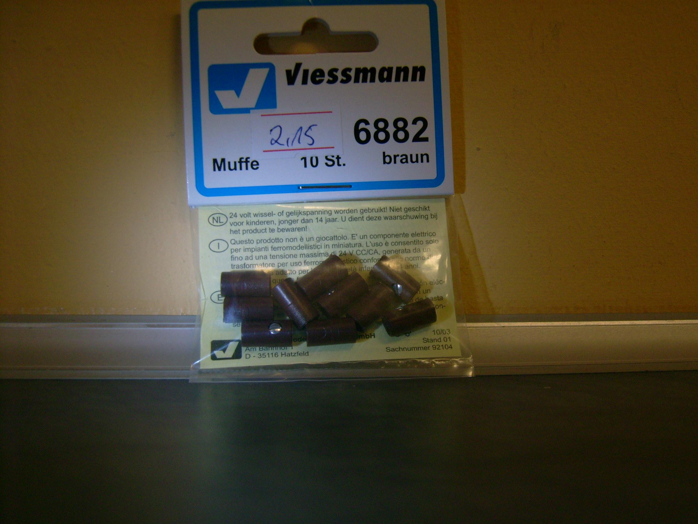 Viessmann 6885 10 Muffen grau